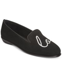 Aerosoles Betunia Smoking Flats Women's Shoes Black Lv