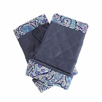 Gizelle Renee Page Navy Leather Gloves With Bc Liberty Tana Lawn Blue