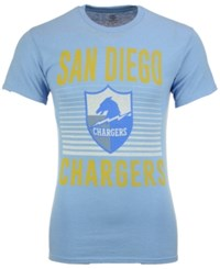 Junk Food Men's San Diego Chargers Block Shutter T Shirt Skyblue Heather