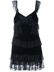 Amen Ruffled Dress Black