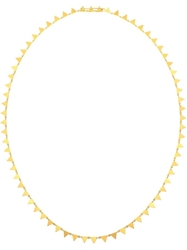 Marie Helene De Taillac 18Kt Yellow Gold Pyramid Necklace Metallic