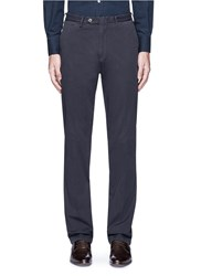 Canali Regular Fit Stretch Cotton Chinos Blue