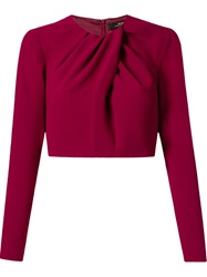Andrea Marques Cropped Pleated Blouse