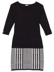 Precis Petite Lacy Houndstooth Knitted Dress Multi Coloured