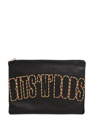 House Of Holland Bits N Bobs Embroidered Leather Pouch