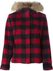 Woolrich Checked Padded Jacket Red
