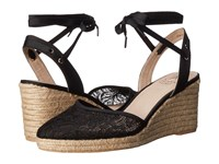 Adrianna Papell Penny Black 1890 Lace Women's Wedge Shoes