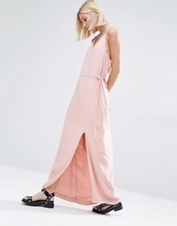 Selected Deisa Strappy Back Maxi Dress Rose Tan Pink