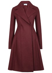 Harris Wharf London Burgundy Flared Wool Coat