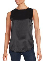 Vince Sleeveless Hi Lo Top Black