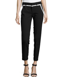 Vince Striped Trim Pants Black Off White