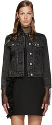 Marc Jacobs Black Embellished Denim Jacket