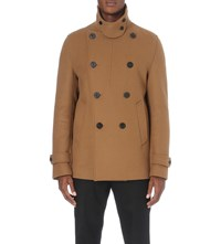 Wooyoungmi Double Breasted Wool Blend Jacket Camel
