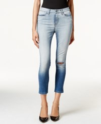 Calvin Klein Jeans High Rise Cropped Lille Blue Wash Jeans