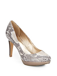 Circa Joan And David 'Pearly' Snake Embossed Faux Leather Platform Pumps Multi
