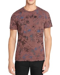 Splendid Mills Paint Print Tee Blk Coffee