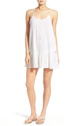 Junior Women's Rip Curl 'Love And Surf' Cover Up Dress White