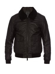Belstaff Mortimer Waxed Cotton Bomber Jacket Black