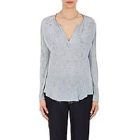 Raquel Allegra Women's Chiffon And Jersey Top Light Blue Blue Light Blue Blue