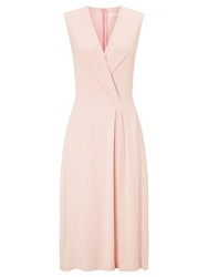Boss Logo Boss Drape Wrap Dress Light Pastel Pink