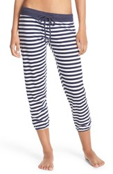 Women's Make Model 'Freedom' Jogger Sweatpants Navy Dusk Stripe Print