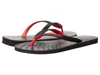 Havaianas Top Optical Zig Zag Sandal Black Ruby Red Men's Sandals