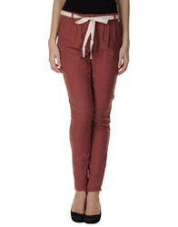 American Vintage Trousers Casual Trousers Women Brick Red