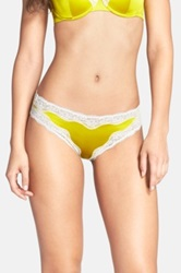 Stella Mccartney 'Clara Whispering' Silk Satin Bikini Yellow