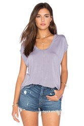 Velvet By Graham And Spencer Olivia Modal Knit V Neck Top Purple