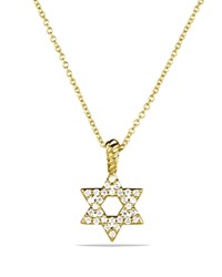 David Yurman Cable Collectibles Star Of David Necklace With Diamonds In 18K Gold