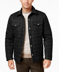 Tasso Elba Quilted Colorblocked Jacket Only At Macy's Black Combo
