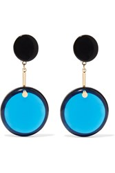 Marni Gold Plated Resin And Horn Earrings