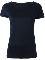 Eleventy Boat Neck T Shirt Blue