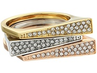 Michael Kors Pave Triangle Stackable Rings Gold Silver Rose Gold Ring