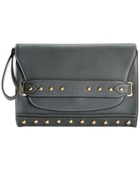 Kensie Studded Rows Clutch
