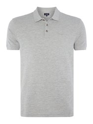 Armani Jeans Regular Fit Short Sleeve Logo Polo Shirt Grey Marl
