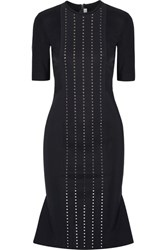 Dion Lee Aperture Swarovski Crystal Embellished Tech Jersey Dress Midnight Blue