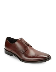 Kenneth Cole Text Me Leather Oxfords Brown