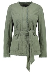 Banana Republic Denim Jacket Olive