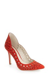Bcbgeneration Women's 'Taleesa' Pointy Toe Pump Candy Red Nubuck Leather