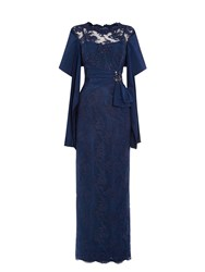 Anoushka G Martha Embellished Lace Maxi Dress Blue
