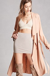 Forever 21 Stretch Knit Mini Skirt Taupe
