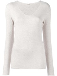 Majestic Filatures V Neck Jumper Nude Neutrals