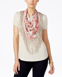 Styleandco. Style Co. Petite T Shirt With Attached Printed Fringe Scarf Only At Macy's Stone Wall