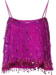 Ashish Sequin Dangles Camisole Pink Purple