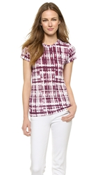 Vince Ikat Print Tee White Gypsy Currant