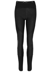 High Hi Lay Out Leather Effect Leggings Black