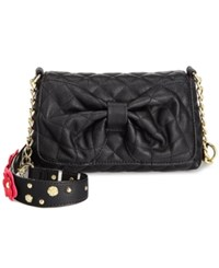 Betsey Johnson Floral Shoulder Bag Black