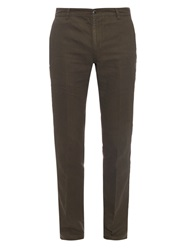 John Varvatos Casual Linen And Cotton Blend Trousers