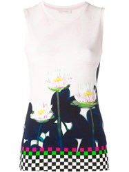 Wunderkind Printed Sleeveless Top Pink And Purple